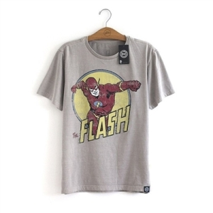 The Flash - Camiseta Vintage - DC Comics (1)